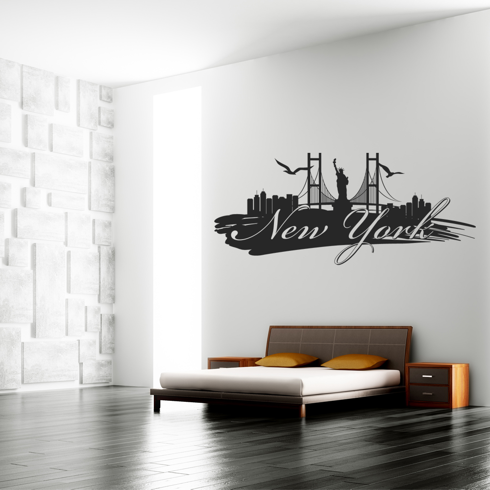 Stickers new york pas cher for Vinilos pared new york