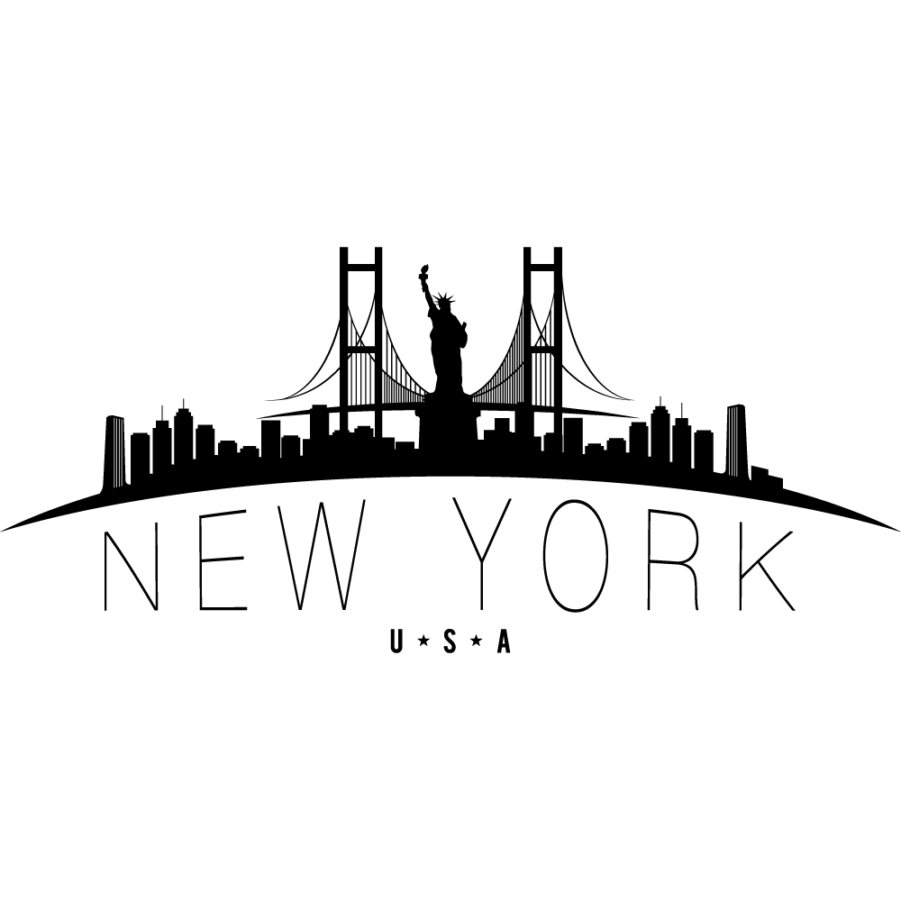 stickers new york pas cher. Black Bedroom Furniture Sets. Home Design Ideas