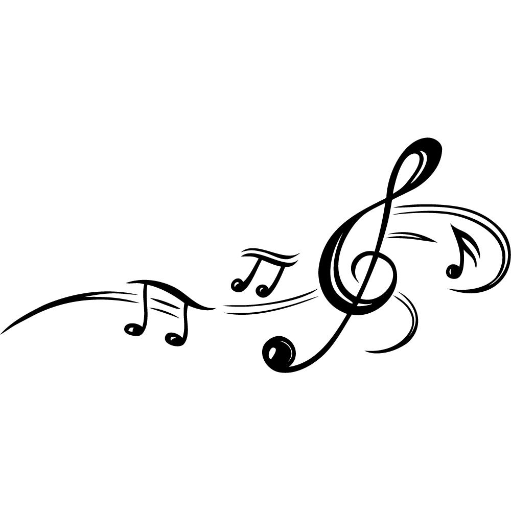 Matrimonio Tema Jazz : Stickers note de musique pas cher