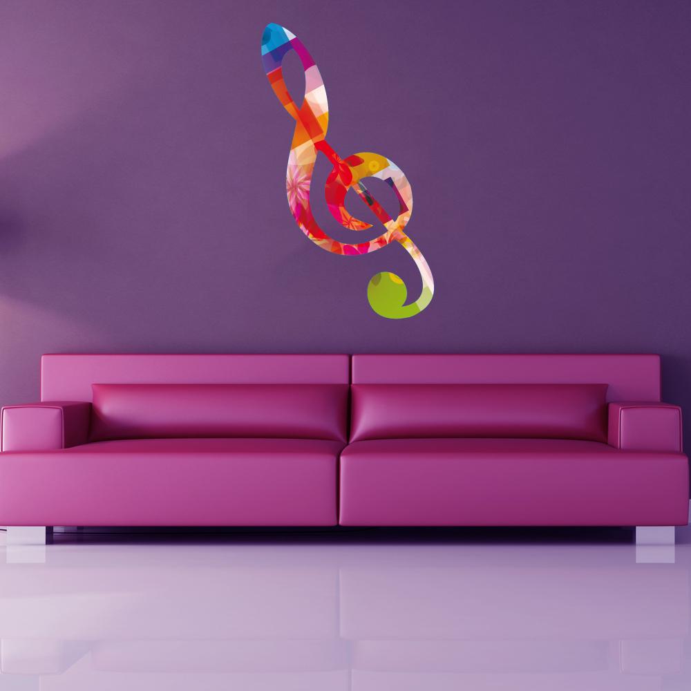 Stickers note de musique multicolore Pas Cher