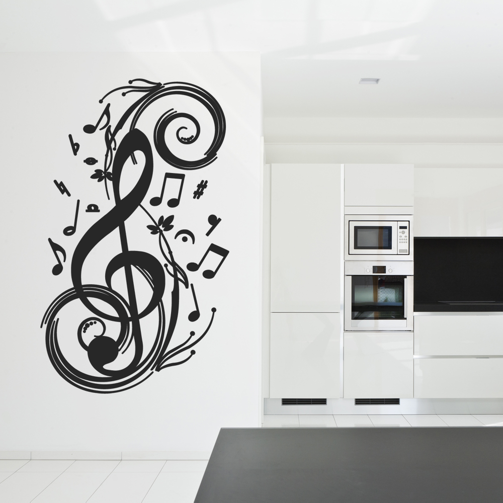stickers note musique pas cher. Black Bedroom Furniture Sets. Home Design Ideas