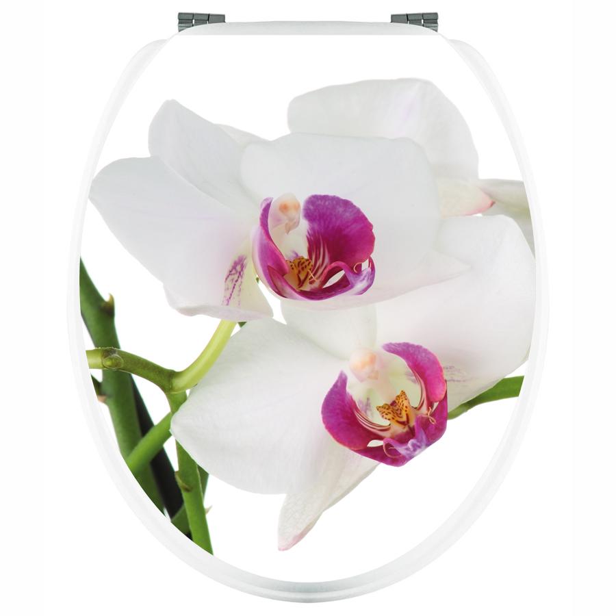 stickers pour abattant wc orchid e blanche pas cher. Black Bedroom Furniture Sets. Home Design Ideas