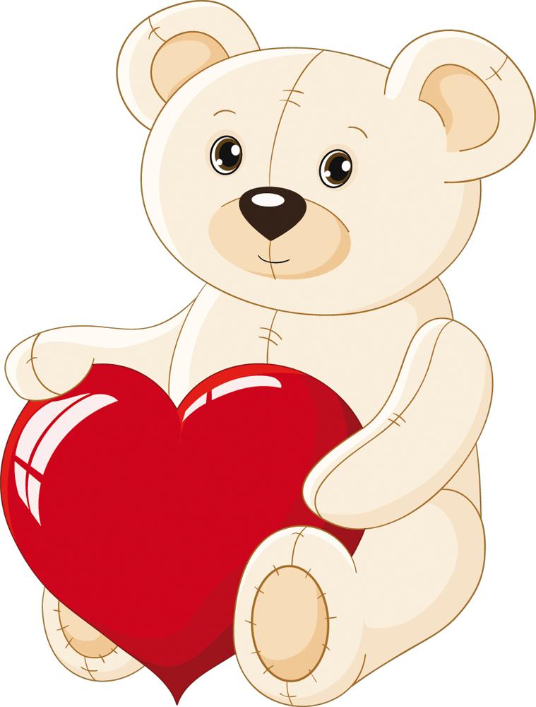 Stickers ourson gros coeur pas cher - Un gros coeur d amour ...