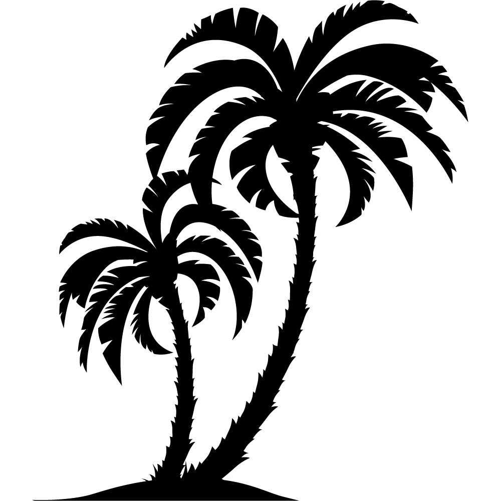 Sticker palmier - Palmier clipart ...