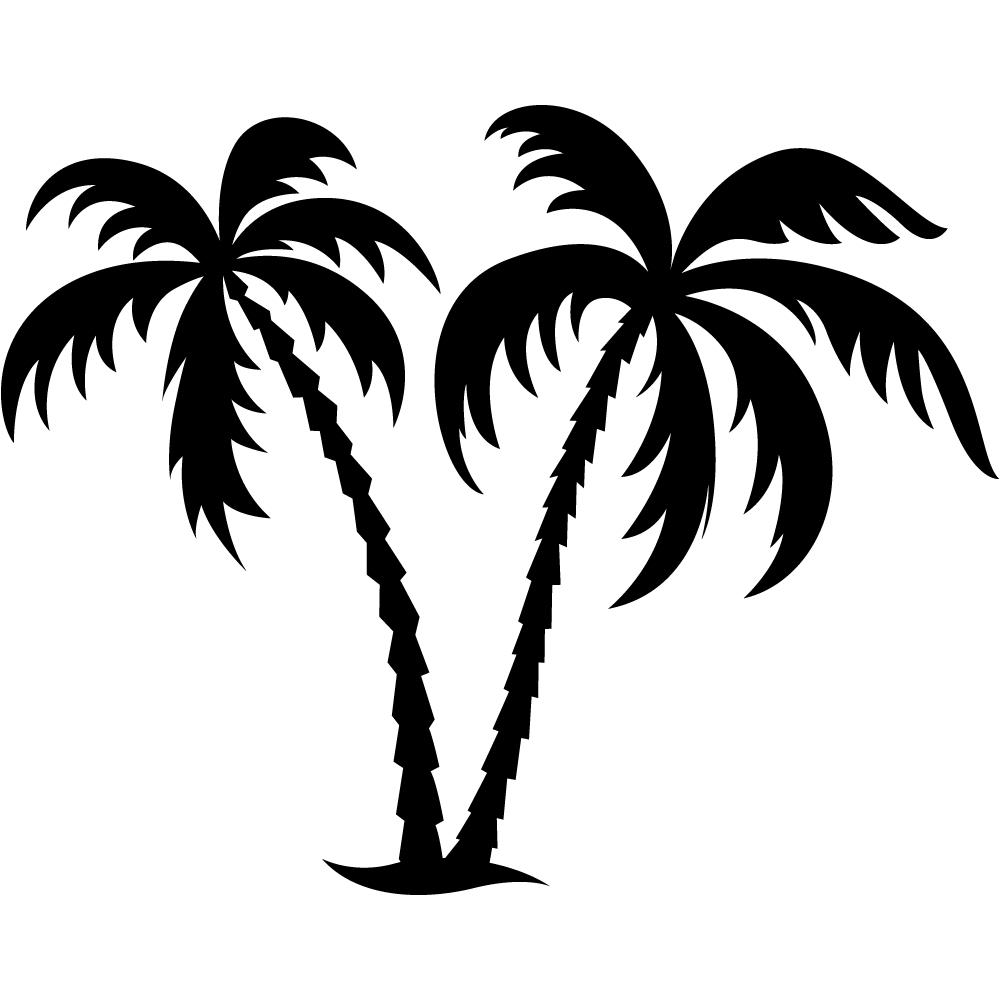 Stickers palmiers pas cher - Palmier clipart ...