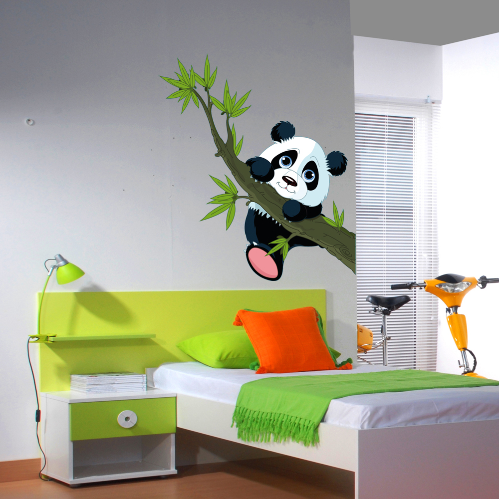 stickers panda pas cher a panda family loves kids wall sticker