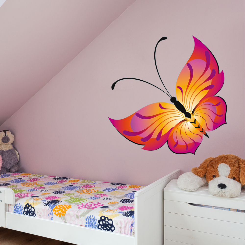 stickers papillon pas cher. Black Bedroom Furniture Sets. Home Design Ideas
