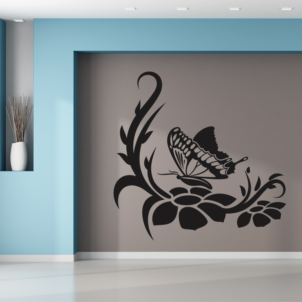 stickers papillon pas cher. Black Bedroom Furniture Sets. Home Design Ideas