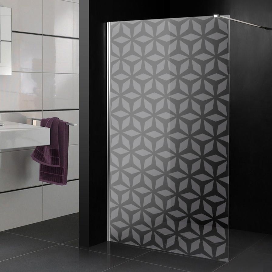 stickers paroi de douche d poli 4 pas cher. Black Bedroom Furniture Sets. Home Design Ideas