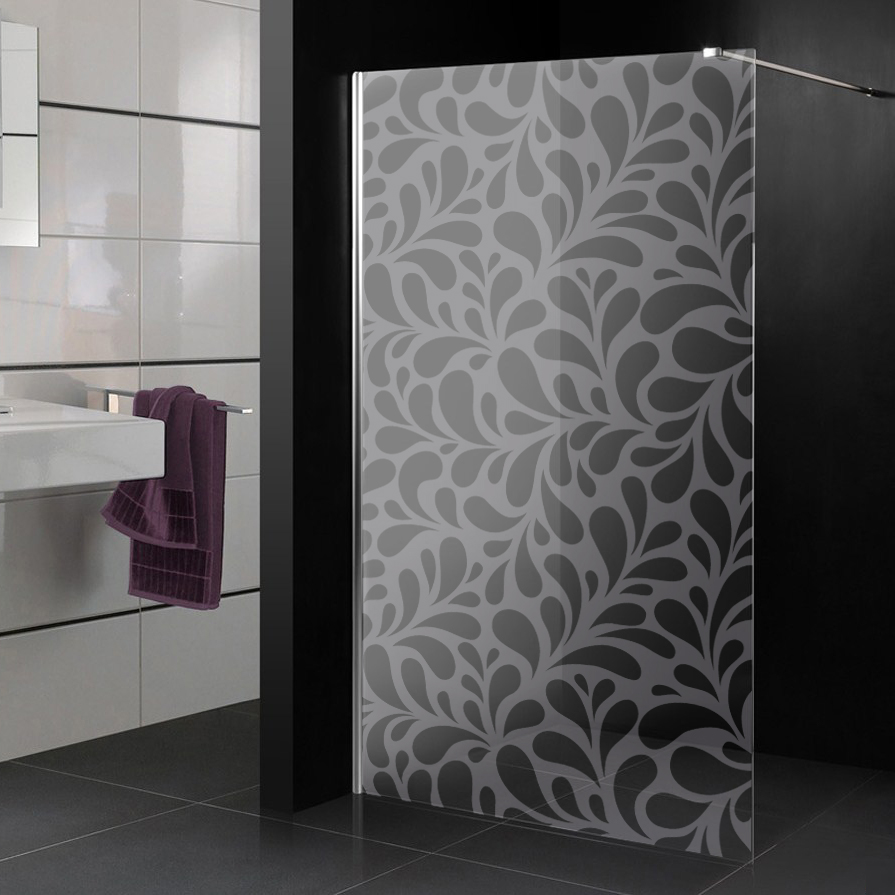 stickers paroi de douche d poli gouttes design pas cher. Black Bedroom Furniture Sets. Home Design Ideas
