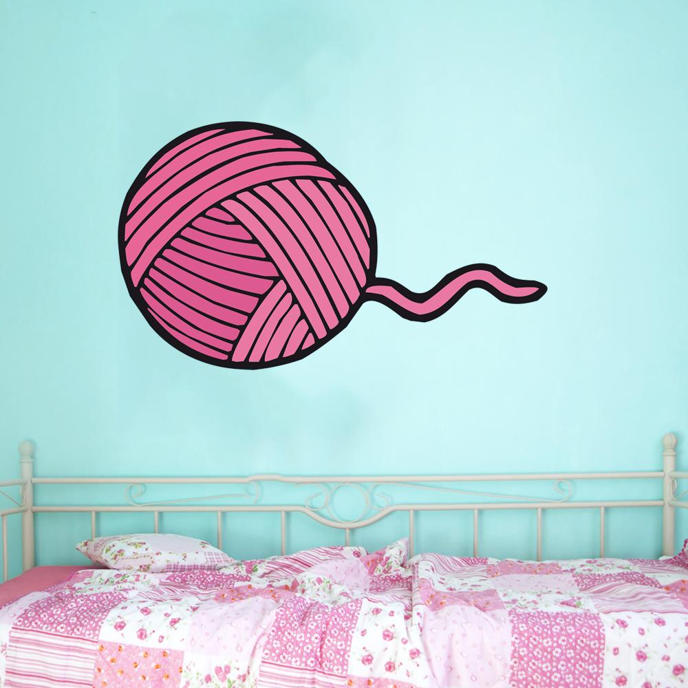 stickers pelote de laine pas cher. Black Bedroom Furniture Sets. Home Design Ideas