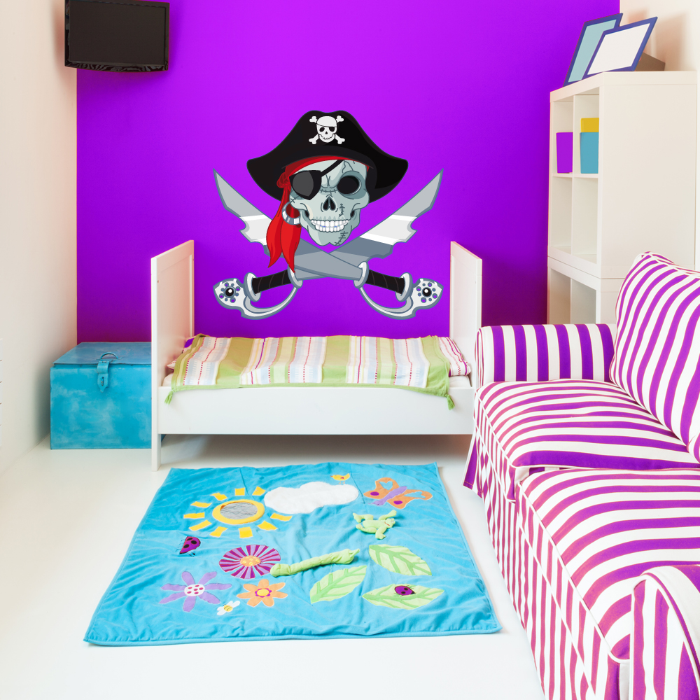 Stickers pirate pas cher for Miroir 90x100