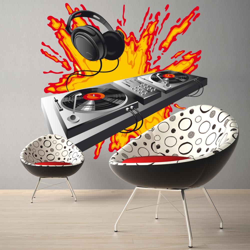 stickers platine dj pas cher. Black Bedroom Furniture Sets. Home Design Ideas