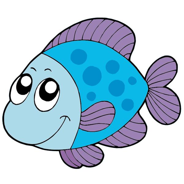 Stickers poisson pas cher - Poisson dessin couleur ...