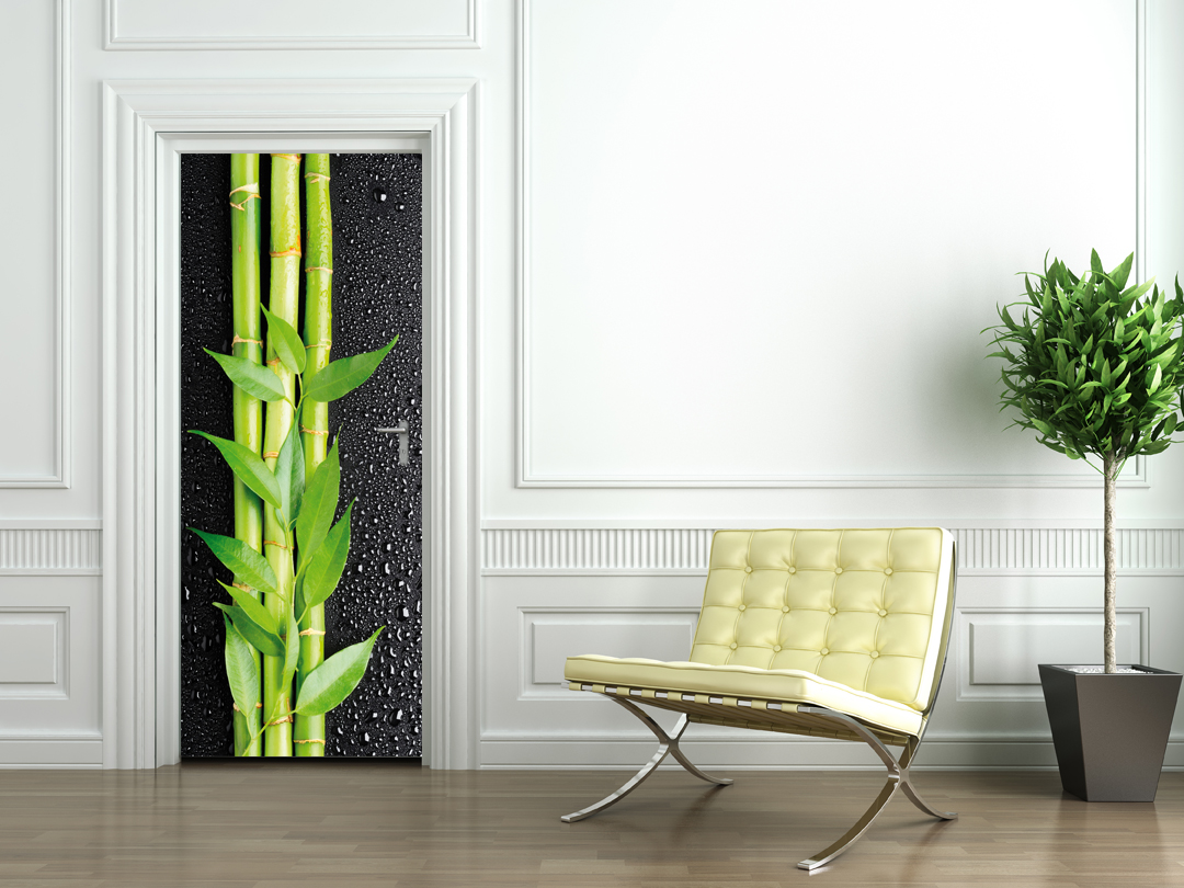 stickers porte bambous pas cher. Black Bedroom Furniture Sets. Home Design Ideas