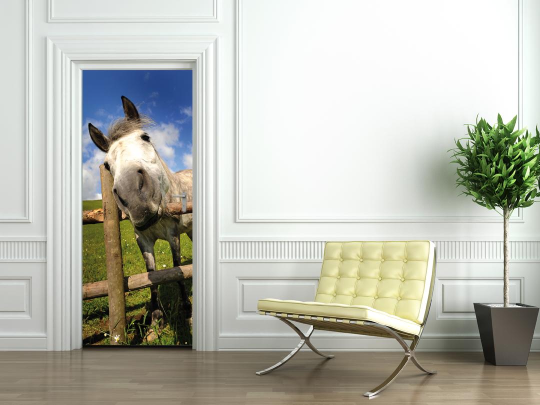 Stickers porte cheval pas cher for Porte de champerret salon animaux