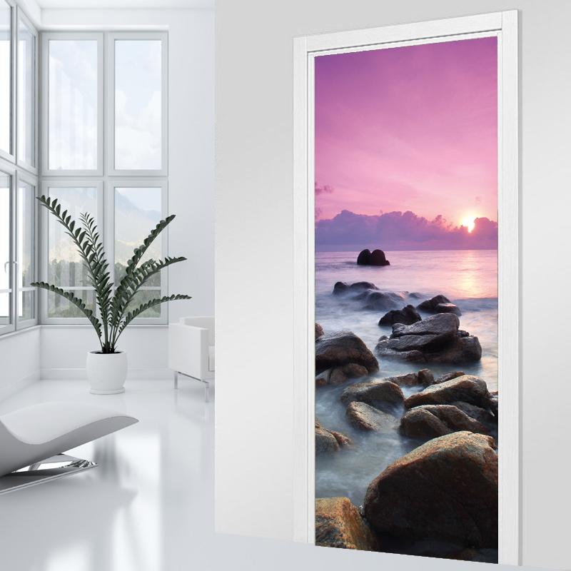 stickers porte couch de soleil pas cher. Black Bedroom Furniture Sets. Home Design Ideas