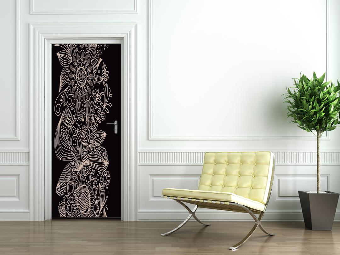 stickers porte design pas cher. Black Bedroom Furniture Sets. Home Design Ideas