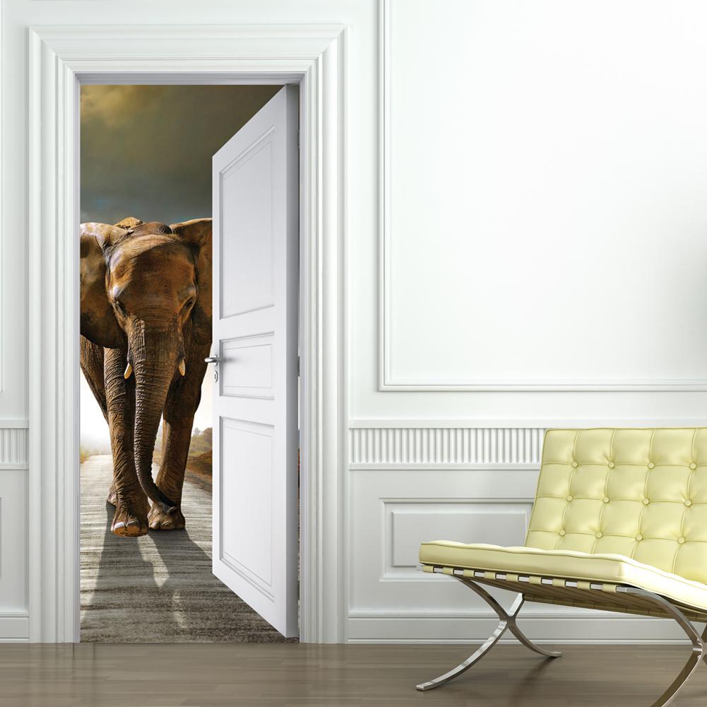 Stickers porte elephant pas cher - Stickers porte pas cher ...
