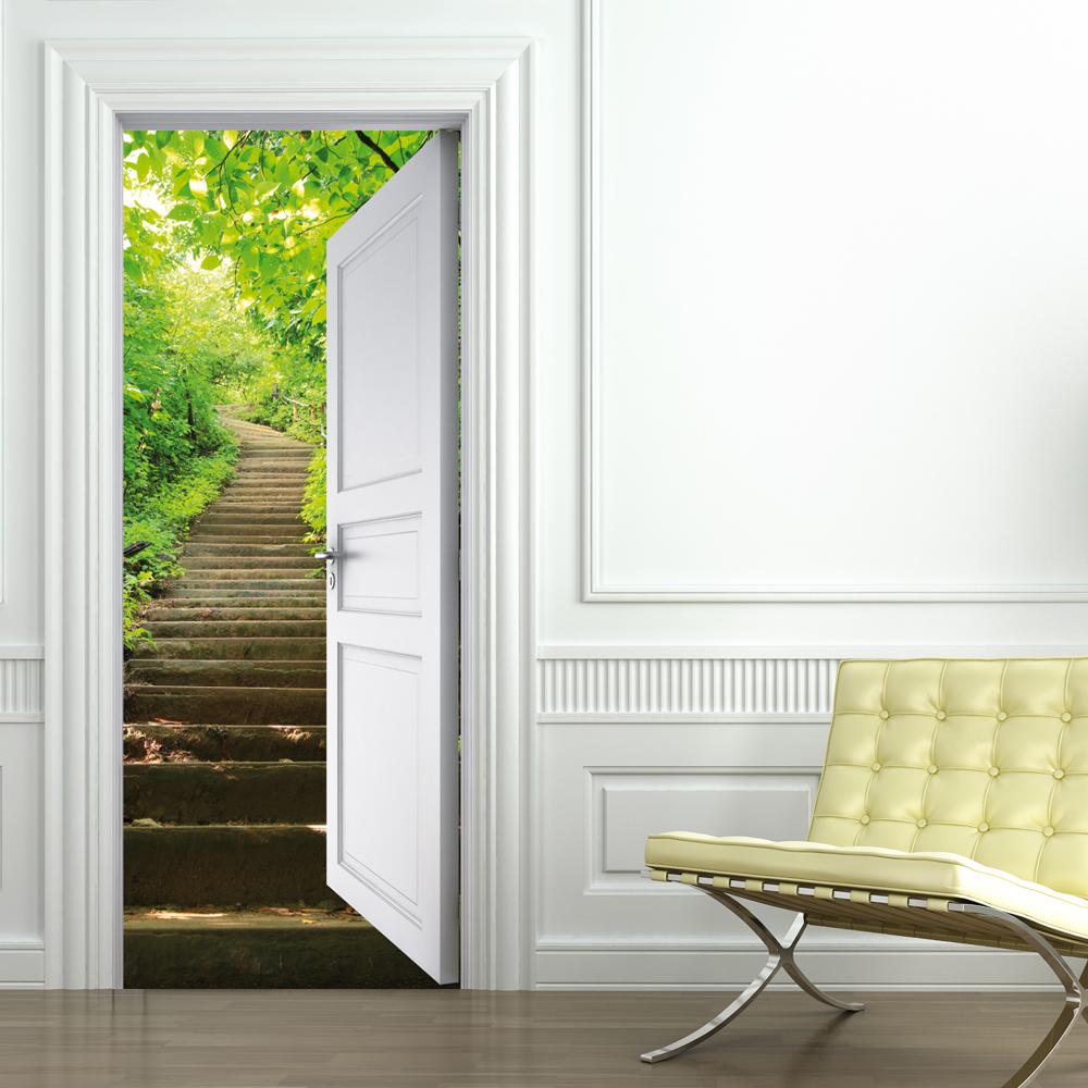 stickers porte escalier pas cher. Black Bedroom Furniture Sets. Home Design Ideas