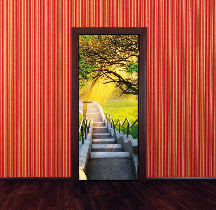 stickers porte escaliers pas cher. Black Bedroom Furniture Sets. Home Design Ideas