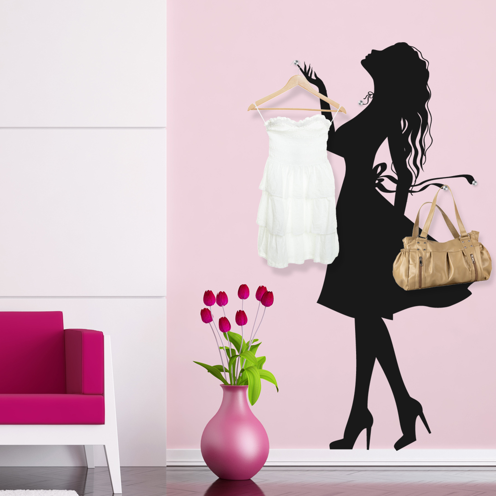 stickers porte manteau femme pas cher. Black Bedroom Furniture Sets. Home Design Ideas