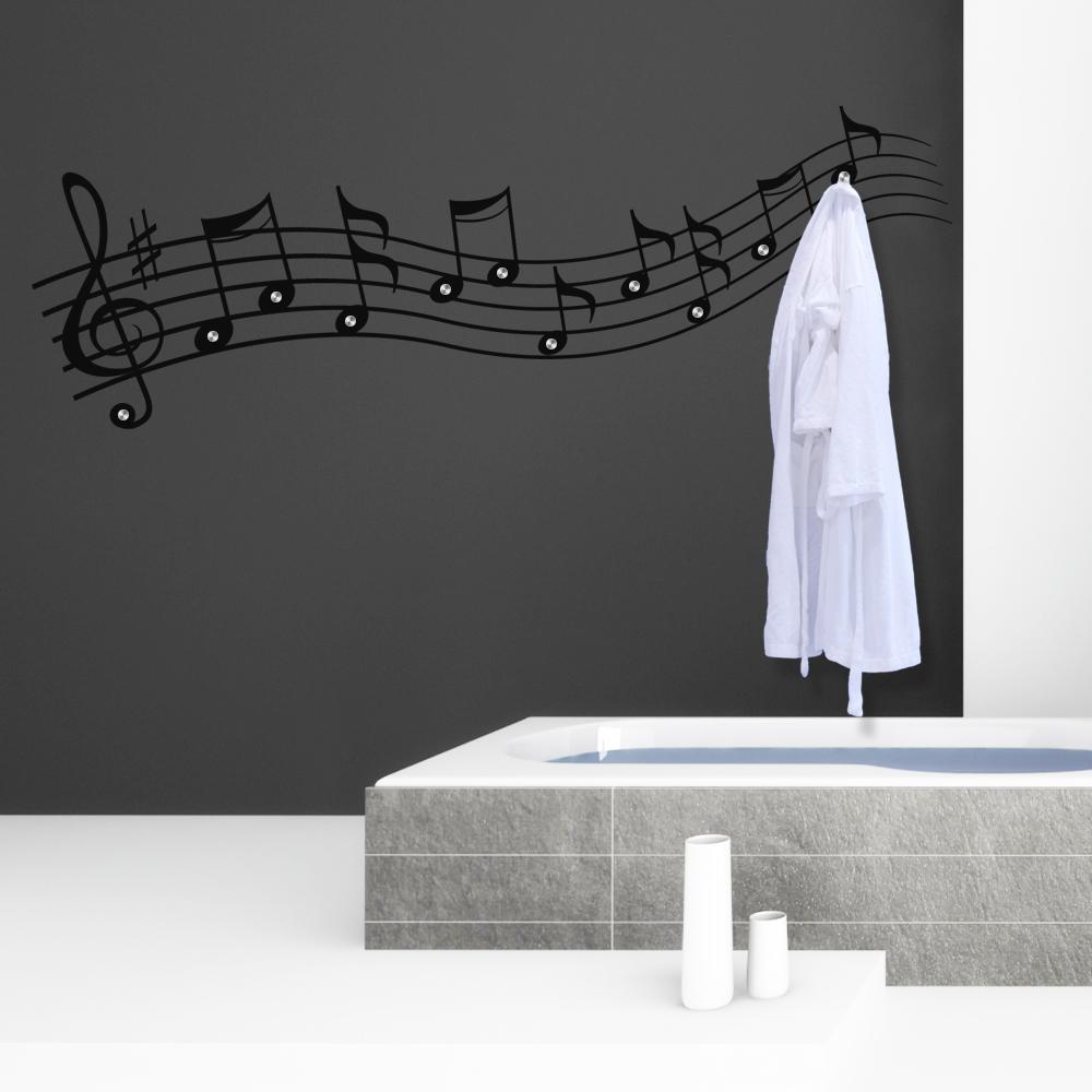 stickers porte manteau musique pas cher. Black Bedroom Furniture Sets. Home Design Ideas