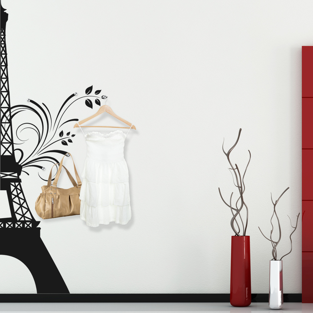 stickers porte manteau tour eiffel pas cher. Black Bedroom Furniture Sets. Home Design Ideas