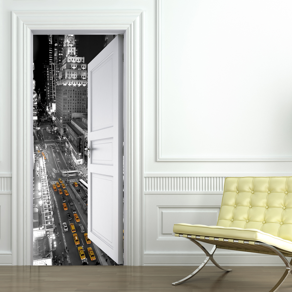 Stickers porte new york pas cher for Stickers de porte de placard