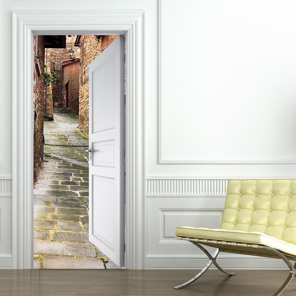 stickers porte ruelle. Black Bedroom Furniture Sets. Home Design Ideas