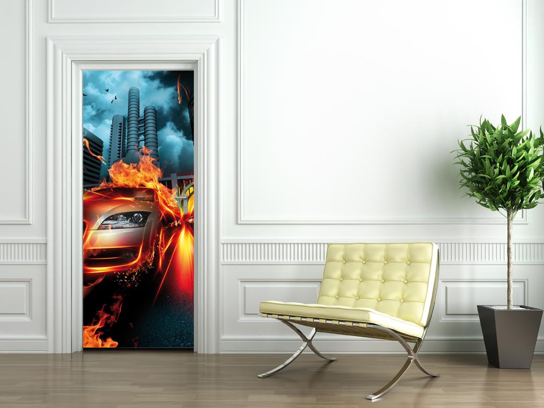 stickers porte voiture pas cher. Black Bedroom Furniture Sets. Home Design Ideas