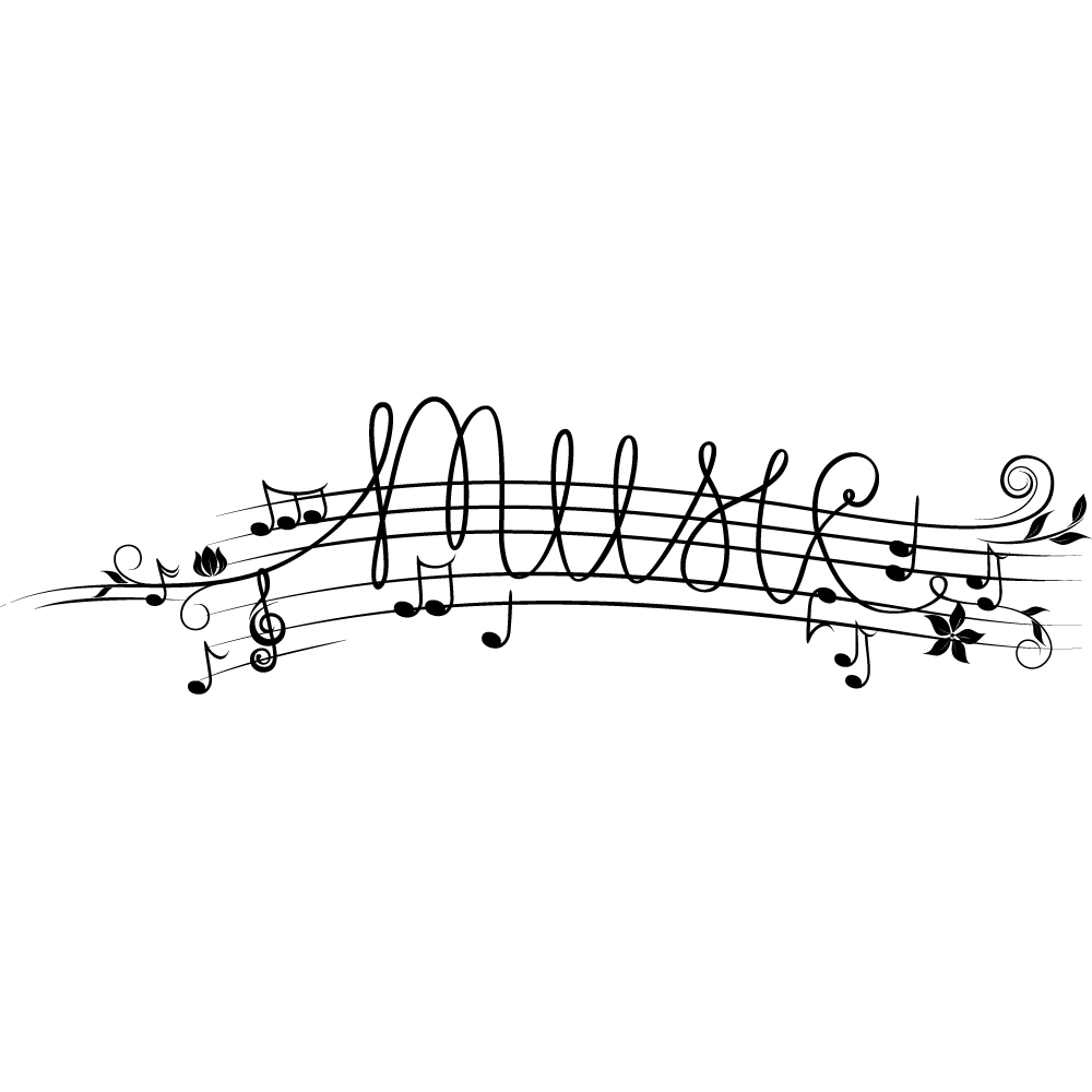 Stickers port e musicale pas cher for Disegno di piano domestico