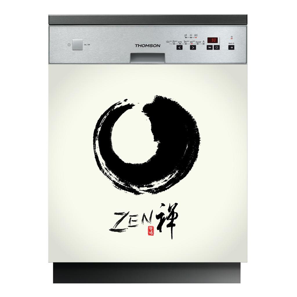 Stickers pour lave vaisselle zen pas cher for Stickers pour lave vaisselle