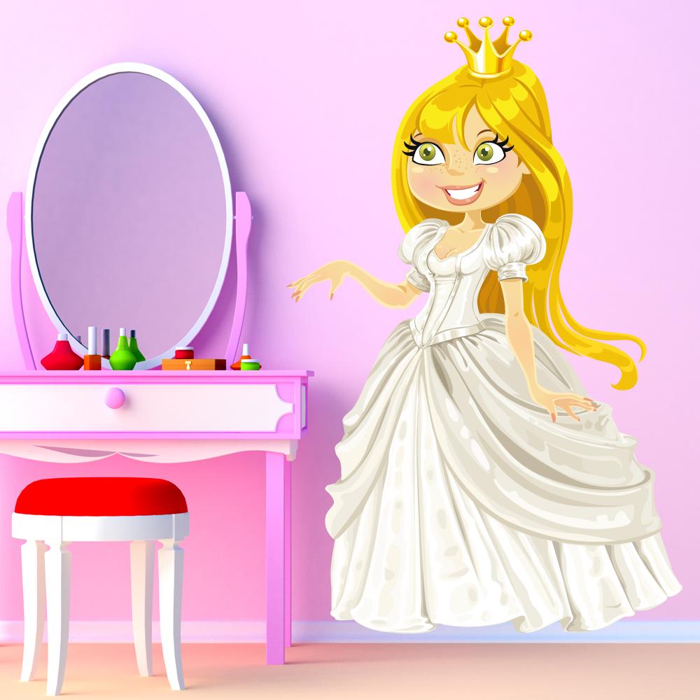 Stickers princesse pas cher for Miroir 90x140
