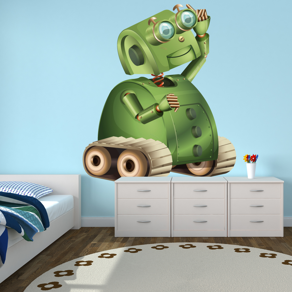 stickers robot pas cher. Black Bedroom Furniture Sets. Home Design Ideas