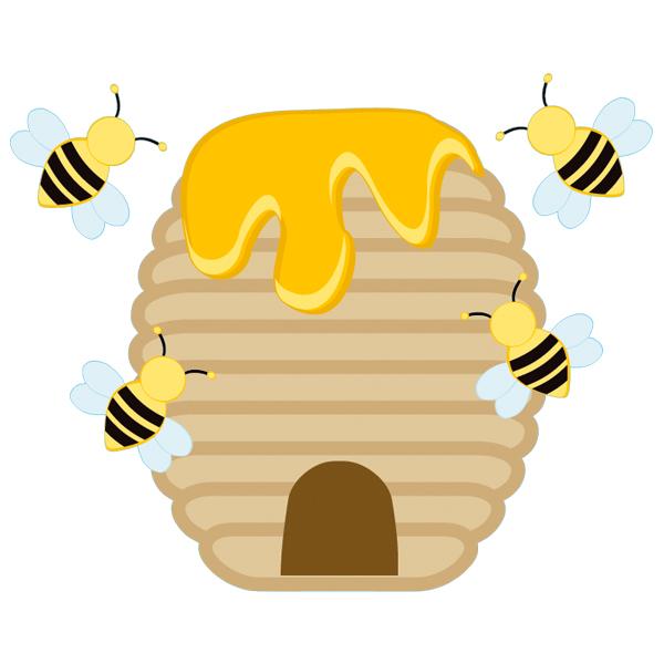 stickers ruche abeille pas cher. Black Bedroom Furniture Sets. Home Design Ideas