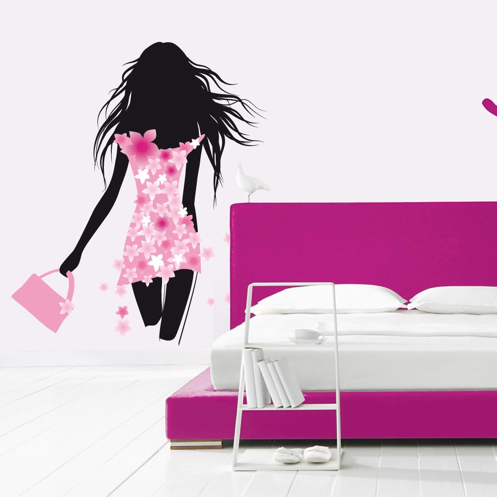 stickers silhouette femme pas cher. Black Bedroom Furniture Sets. Home Design Ideas