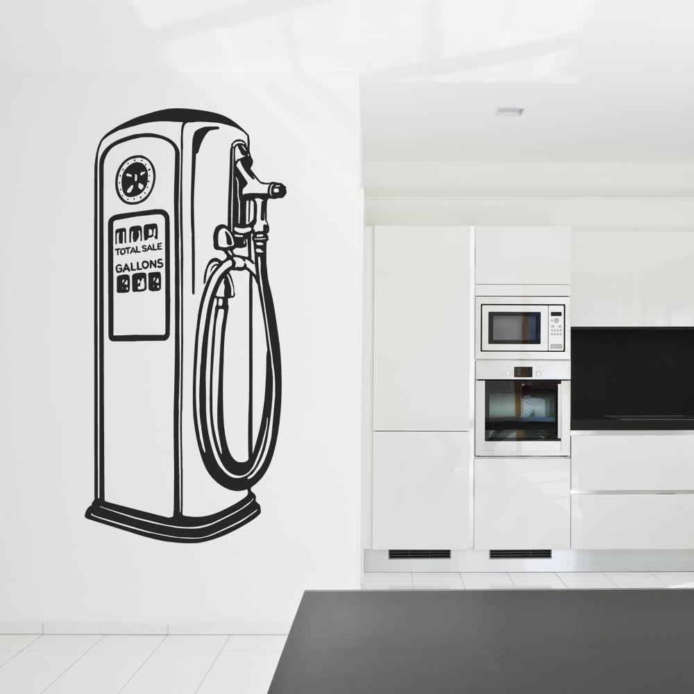 stickers station service pas cher. Black Bedroom Furniture Sets. Home Design Ideas