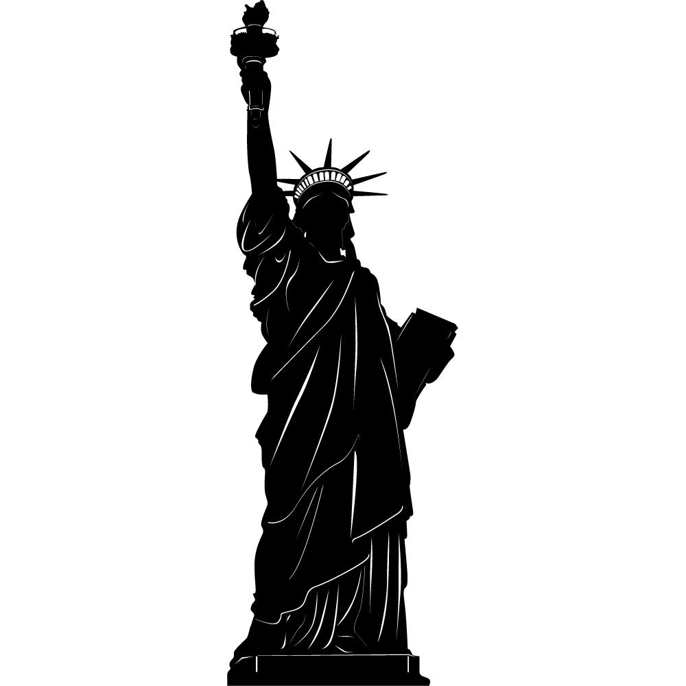 stickers statue de la libert pas cher. Black Bedroom Furniture Sets. Home Design Ideas