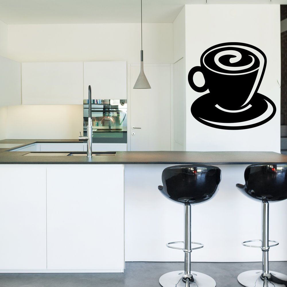 stickers tasse caf pas cher. Black Bedroom Furniture Sets. Home Design Ideas