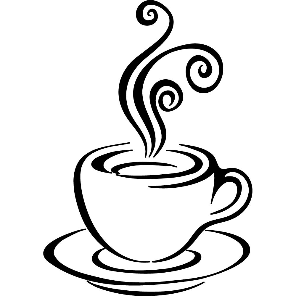 Stickers tasse caf pas cher - Tasse de cafe dessin ...
