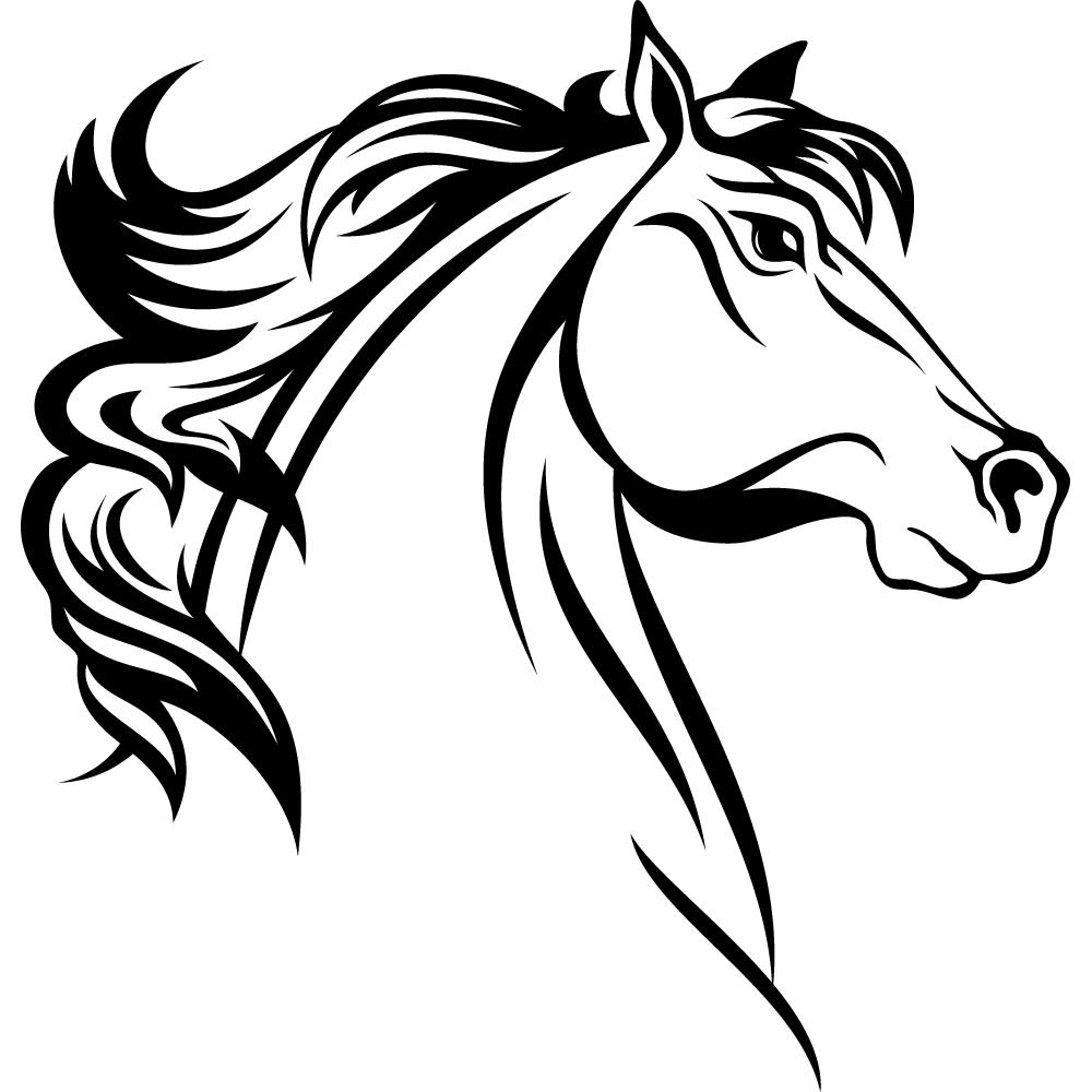 Stickers t te cheval pas cher - Image tete de cheval ...