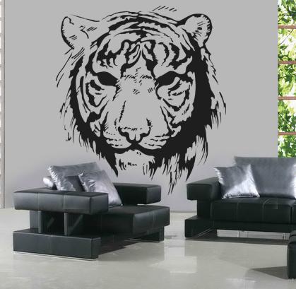 stickers t te de tigre pas cher. Black Bedroom Furniture Sets. Home Design Ideas