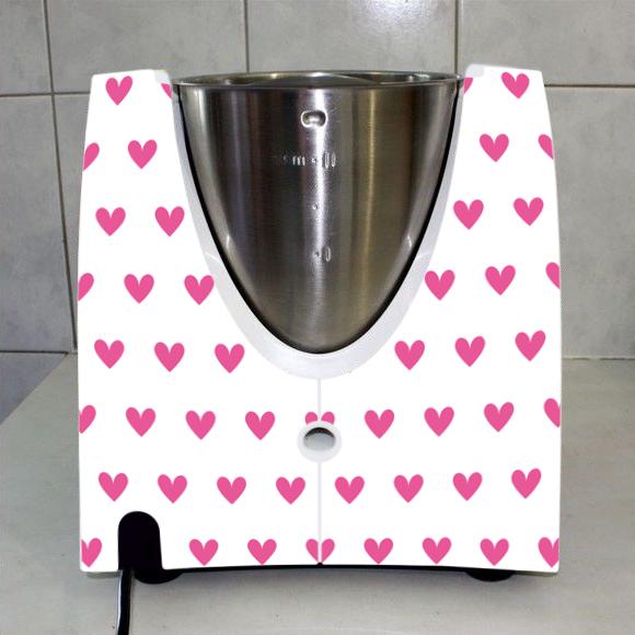 Stickers thermomix tm 31 pluie de coeur rose pas cher - Thermomix fabrique en france ...