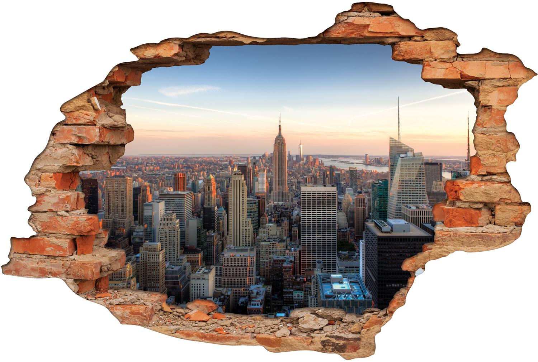 Stickers Trompe l'oeil 3D New York Pas Cher