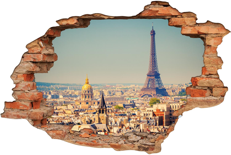 Stickers Trompe l oeil 3D Paris Pas Cher