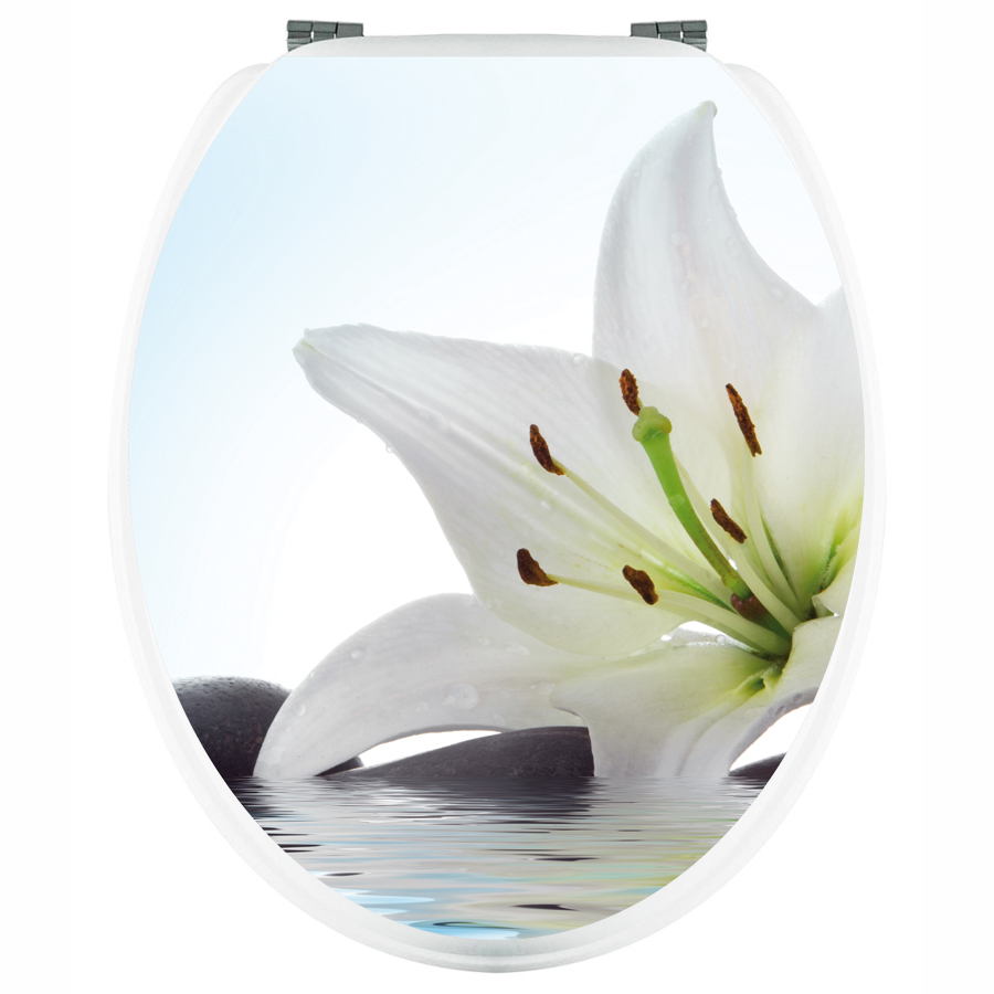 stickers wc fleur de lys pas cher. Black Bedroom Furniture Sets. Home Design Ideas