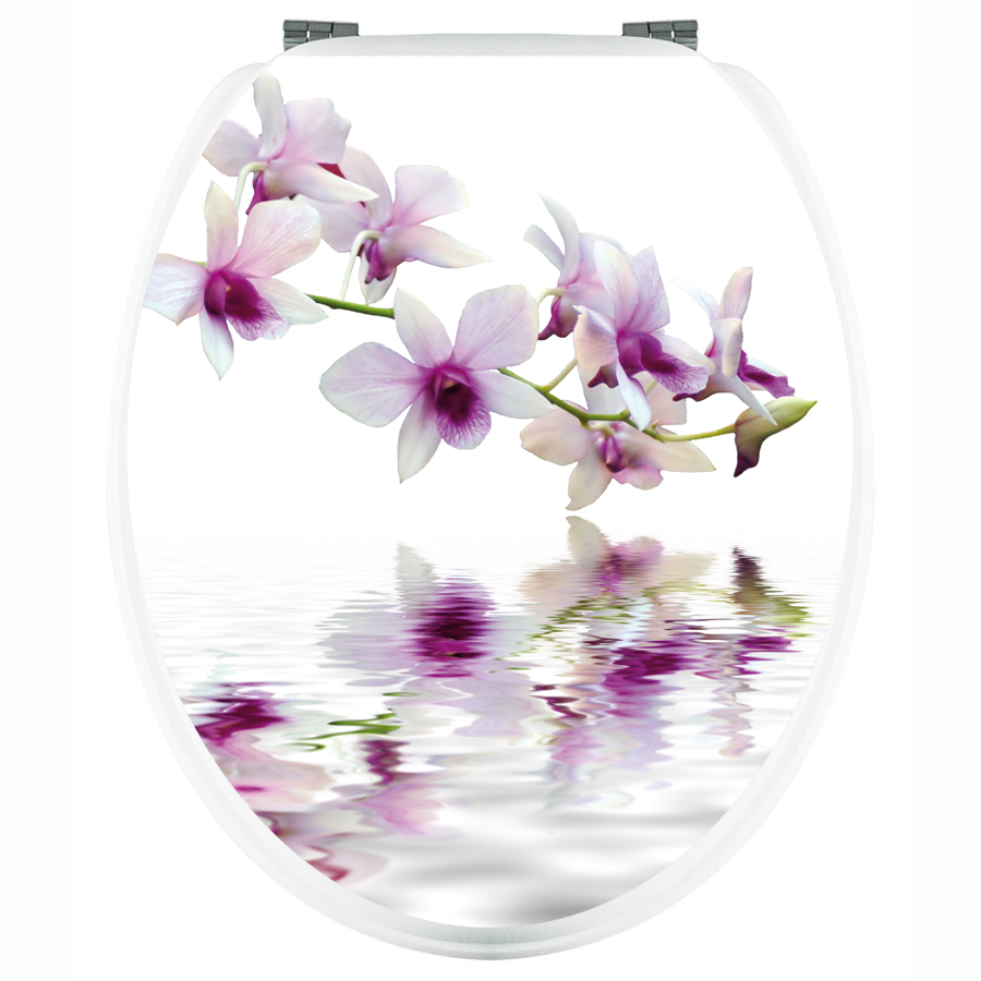 stickers wc orchid e blanche pas cher. Black Bedroom Furniture Sets. Home Design Ideas
