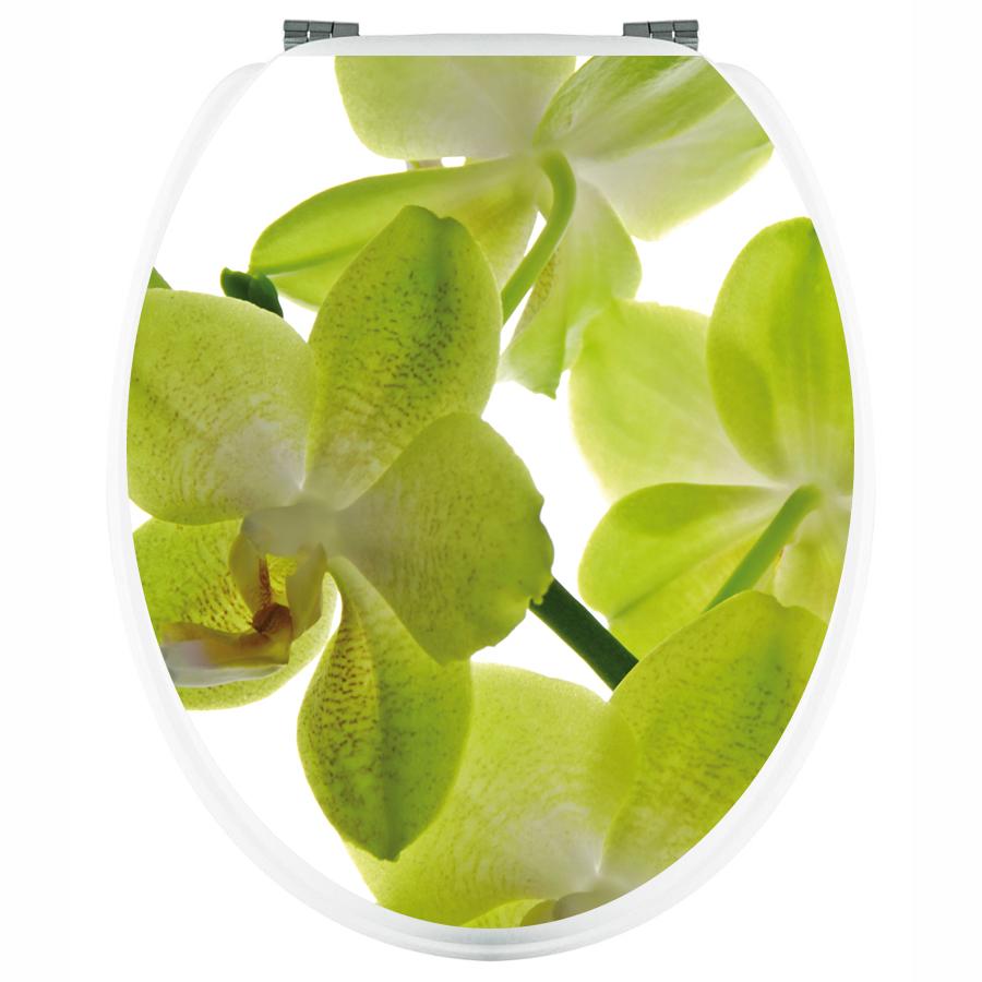 stickers wc orchid e verte pas cher. Black Bedroom Furniture Sets. Home Design Ideas