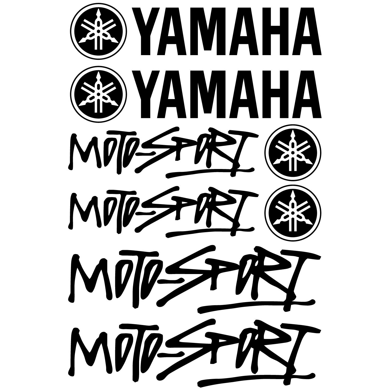 Autocollant stickers yamaha moto sport